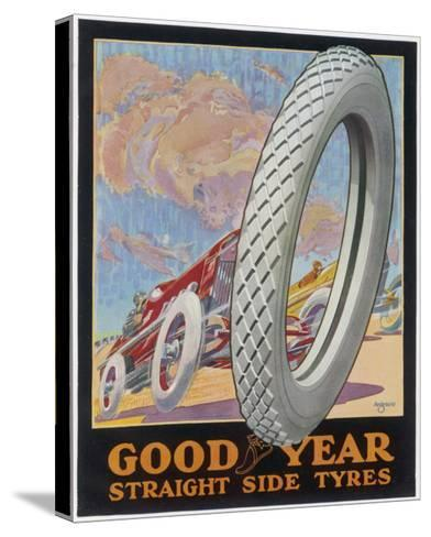 Showcard for Goodyear Straight Side Tyres--Stretched Canvas Print