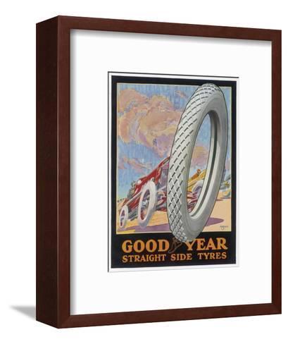 Showcard for Goodyear Straight Side Tyres--Framed Art Print