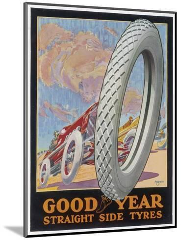 Showcard for Goodyear Straight Side Tyres--Mounted Giclee Print