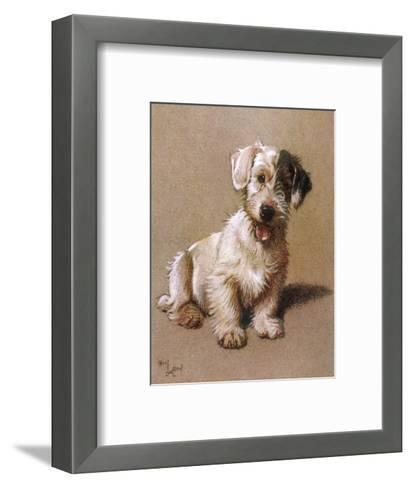 Sealyham Terrier with its Tongue Hanging Out--Framed Art Print