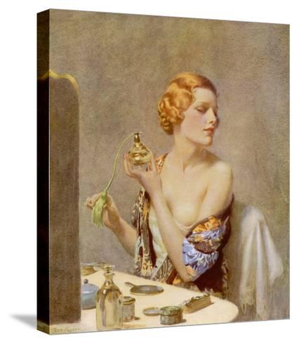 The Artist at Work by Fred Pegram--Stretched Canvas Print