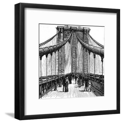 The Brooklyn Bridge, New York, 1883--Framed Art Print