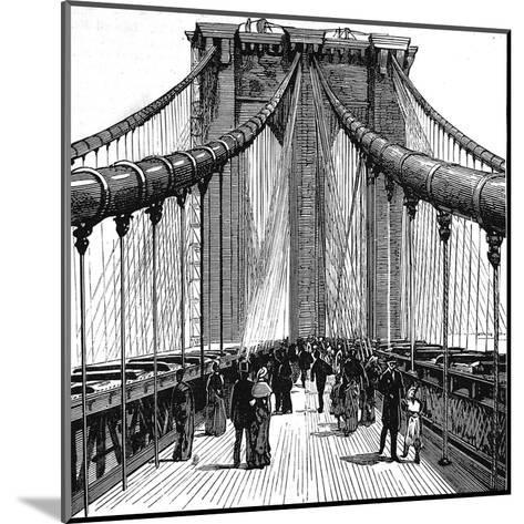 The Brooklyn Bridge, New York, 1883--Mounted Giclee Print