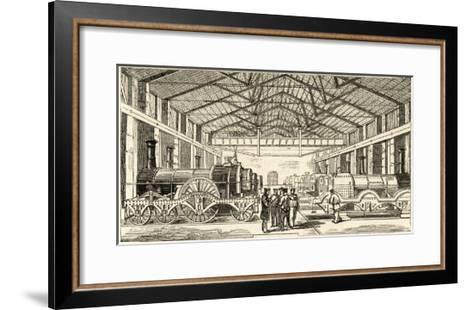 The Great Western Railway's Locomotive Manufactory at Swindon--Framed Art Print