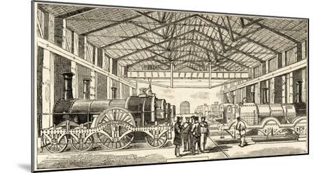 The Great Western Railway's Locomotive Manufactory at Swindon--Mounted Giclee Print