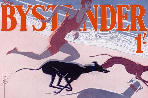 The Bystander Masthead by Laurie Taylor, 1930--Stretched Canvas Print