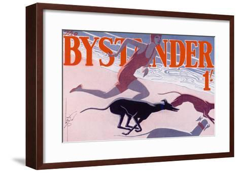The Bystander Masthead by Laurie Taylor, 1930--Framed Art Print