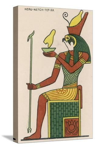 The Falcon-God Horus Has Many Forms : This Is Heru-Netch- Tef-Ra--Stretched Canvas Print