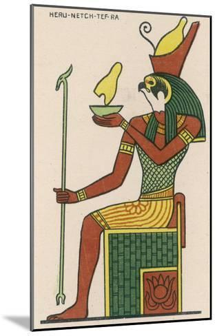 The Falcon-God Horus Has Many Forms : This Is Heru-Netch- Tef-Ra--Mounted Giclee Print