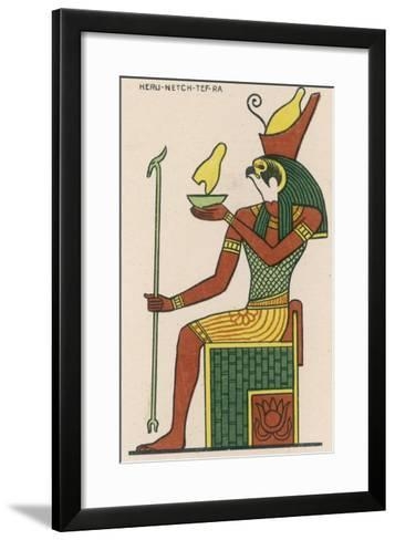 The Falcon-God Horus Has Many Forms : This Is Heru-Netch- Tef-Ra--Framed Art Print