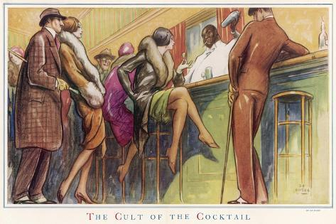 The Cult of the Cocktail--Stretched Canvas Print