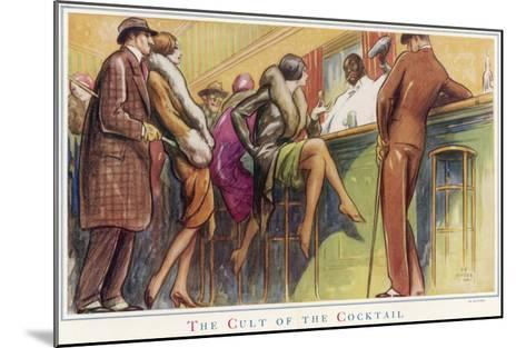 The Cult of the Cocktail--Mounted Giclee Print