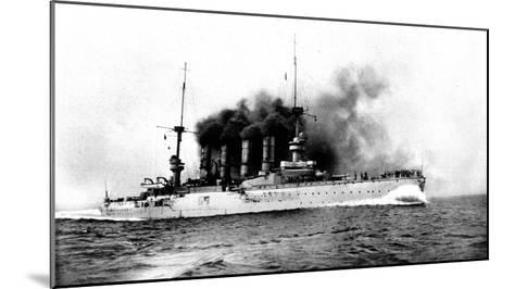 The German Flag Ship Sunk by the British Near the Falklands: the Cruiser 'scharnhorst'--Mounted Giclee Print