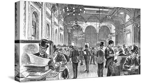 The Great Room of Lloyd's of London, 1890--Stretched Canvas Print