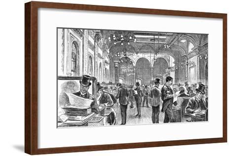The Great Room of Lloyd's of London, 1890--Framed Art Print