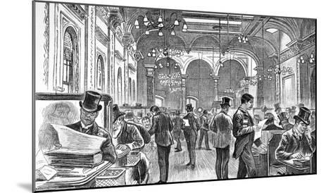 The Great Room of Lloyd's of London, 1890--Mounted Giclee Print