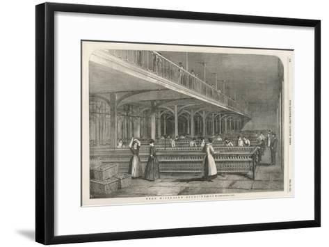 The Doubling Room at Dean Mills, Lancashire, a Cotton Mill--Framed Art Print