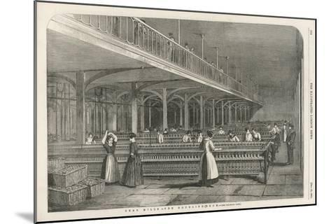 The Doubling Room at Dean Mills, Lancashire, a Cotton Mill--Mounted Giclee Print