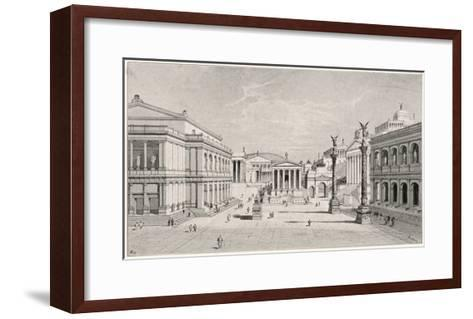 The Northern and Eastern Sides of the Roman Forum--Framed Art Print