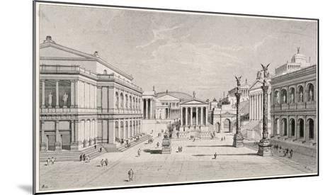 The Northern and Eastern Sides of the Roman Forum--Mounted Giclee Print
