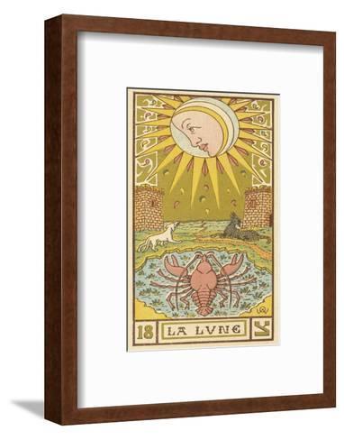The Moon Depicted on a Tarot Card--Framed Art Print