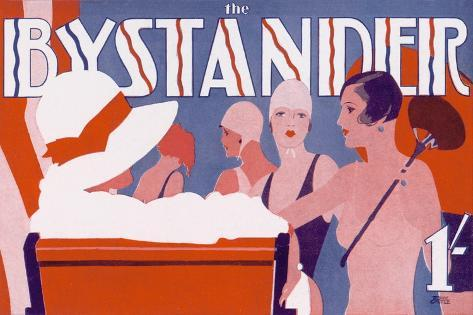The Bystander Masthead by Tony Castle, 1930--Stretched Canvas Print