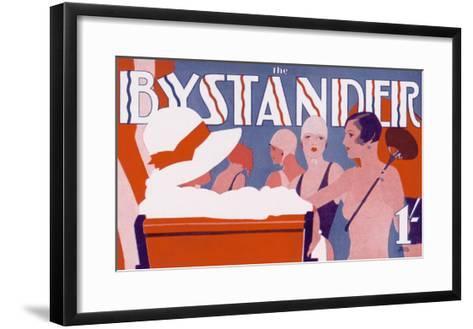 The Bystander Masthead by Tony Castle, 1930--Framed Art Print