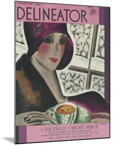 The Delineator November 1929--Mounted Giclee Print
