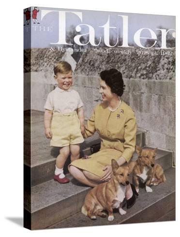 Tatler Front Cover: Queen Elizabeth Ii and Prince Andrew--Stretched Canvas Print
