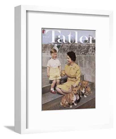 Tatler Front Cover: Queen Elizabeth Ii and Prince Andrew--Framed Art Print