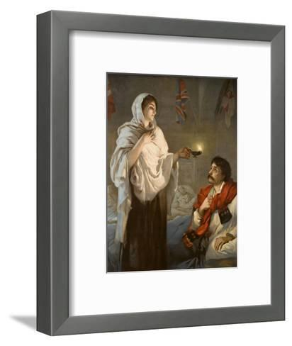 The Lady with the Lamp Florence Nightingale--Framed Art Print
