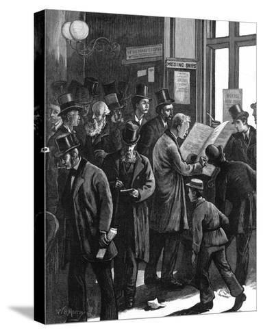 The Loss Book at Lloyd's of London, 1877--Stretched Canvas Print