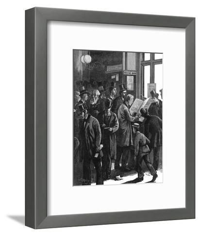 The Loss Book at Lloyd's of London, 1877--Framed Art Print