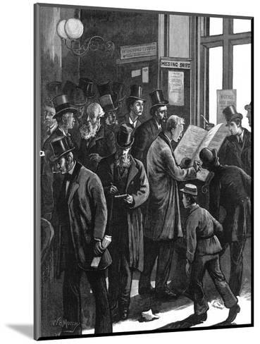 The Loss Book at Lloyd's of London, 1877--Mounted Giclee Print