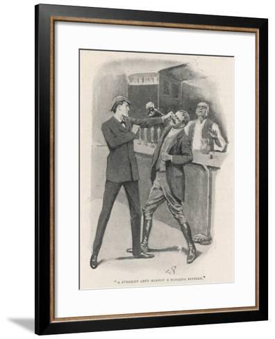 The Adventure of the Solitary Cyclist, Holmes Engages in Fisticuffs--Framed Art Print