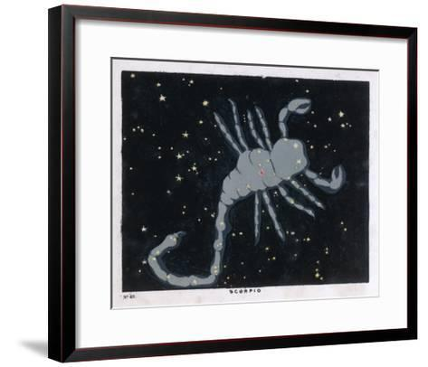The Constellation of Scorpio, the Scorpion--Framed Art Print