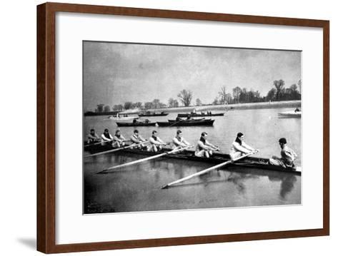 The Inter-Varsity Boat-Race: the Crews at Practice--Framed Art Print