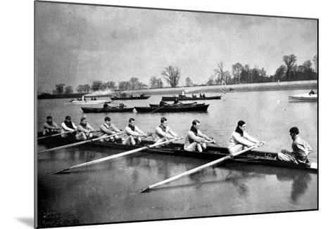 The Inter-Varsity Boat-Race: the Crews at Practice--Mounted Giclee Print