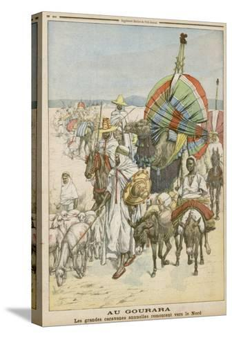 The Annual Migration of Algerian Tribes, for the Purpose of Trading--Stretched Canvas Print