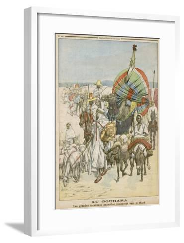 The Annual Migration of Algerian Tribes, for the Purpose of Trading--Framed Art Print