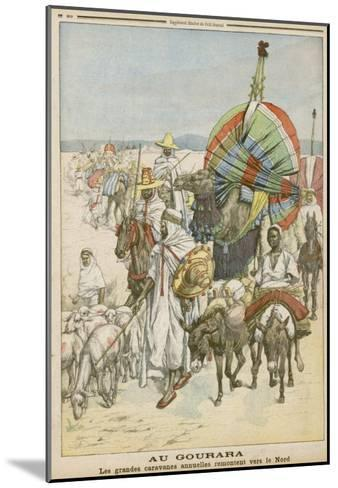 The Annual Migration of Algerian Tribes, for the Purpose of Trading--Mounted Giclee Print