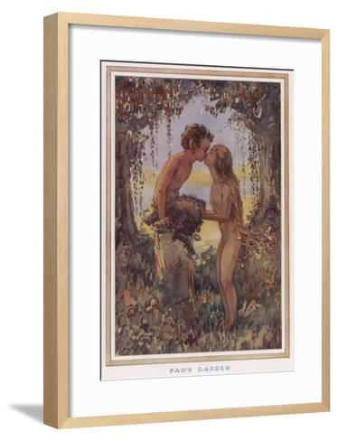 Sylvan Scene with Faun--Framed Art Print