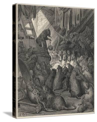 The League of Rats Hundreds of Rats Clamber over Sacks and Perch on a Ladder--Stretched Canvas Print