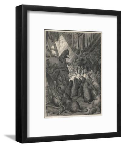 The League of Rats Hundreds of Rats Clamber over Sacks and Perch on a Ladder--Framed Art Print
