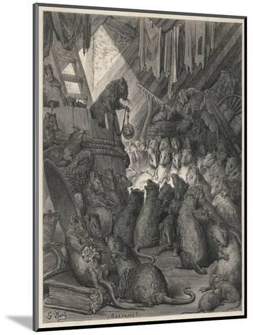 The League of Rats Hundreds of Rats Clamber over Sacks and Perch on a Ladder--Mounted Giclee Print