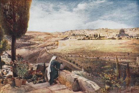 The City Seen from the Mount of Olives--Stretched Canvas Print