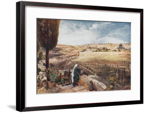 The City Seen from the Mount of Olives--Framed Art Print