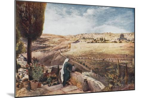 The City Seen from the Mount of Olives--Mounted Giclee Print