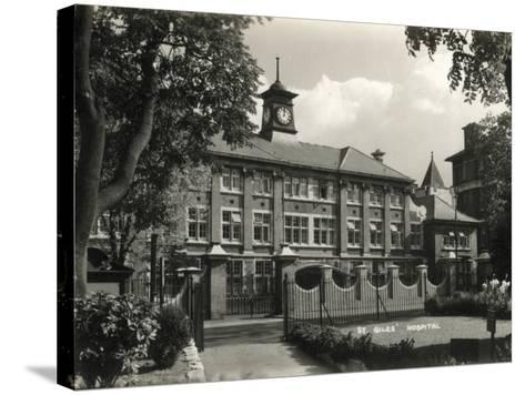 St Giles Hospital, Camberwell, London-Peter Higginbotham-Stretched Canvas Print