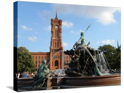 The Red Town Hall (Rotes Rathaus), Berlin, Germany--Stretched Canvas Print